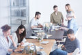 Culturally Diverse Team Of Employees Stock Image - 96330471