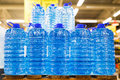Bottled Still Water On The Palette Royalty Free Stock Images - 96353429