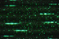 Zero And One Green Binary Digital Code, Computer Generated Seamless Loop Abstract Motion Background, New Technology Stock Photo - 96358720