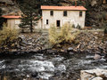 Abandoned House By Stream Stock Photos - 96359053