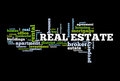 Real Estate Word Cloud Stock Photography - 96364302