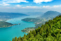 View Of The Annecy Lake In The French Alps Stock Image - 96379071