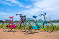 The Bicycle Stands On A Village Road At Thalkote Lake Near Sigiriya Stock Images - 96379214