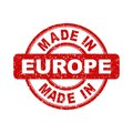 Made In Europe Red Stamp. Vector Illustration On White Backgroun Stock Photo - 96385860