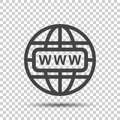Go To Web Icon. Internet Flat Vector Illustration For Website On Stock Photos - 96387303