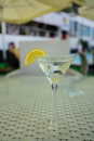 Vermouth Cocktail With Lemon In The Glass Royalty Free Stock Image - 96388086