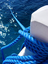 Blue Ship Anchor Rope Royalty Free Stock Photos - 9642428