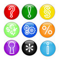 Web Icons, Buttons.Vector. Royalty Free Stock Photography - 9645997