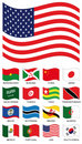 Vector Flag Collection Stock Photography - 9649202