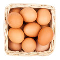Eggs In A Basket Stock Images - 96401504