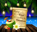 Pirate Treasure Map On Tropical Background Stock Photo - 96411560