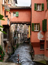 Waterway In The Center Of Bologna Italy Royalty Free Stock Image - 96416726