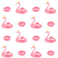 Cute Flamingo Float Seamless Vector Pattern Background Illustration Stock Photography - 96423682