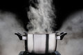 Steam Over Cooking Pot Royalty Free Stock Image - 96429946