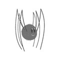 Cute Cartoon Black Spider Character Vector Illustration Royalty Free Stock Images - 96453439