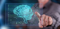 Man Touching An Artificial Intelligence Concept On A Touch Screen Stock Photo - 96455030