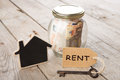 Real Estate Finance Concept - Money Glass With Rent Word Stock Image - 96456221