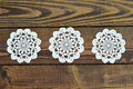 Lace Doily On Wooden Background Royalty Free Stock Photos - 96469168