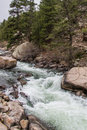 Rushing Stream River Water Through Eleven Mile Canyon Colorado Stock Images - 96471394