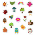 Nature Stickers Royalty Free Stock Images - 9650129
