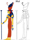 Ancient Egyptian Goddess - Mut Royalty Free Stock Image - 9656466
