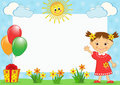 Children S Photo-framework. Royalty Free Stock Image - 9657946