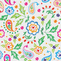 Embroidery Vector Seamless Decorative Floral Pattern, Ornament For Textile Decor. Bohemian Handmade Style Background Royalty Free Stock Photos - 96510158