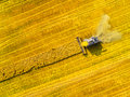 Harvest Of Rapeseed Field. Stock Photos - 96528993