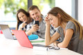 Sad Student Victim Of Cyber Bullying Royalty Free Stock Image - 96531986