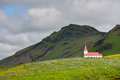 Landscape Of Vik Village, Iceland With Myrdal Church Royalty Free Stock Photography - 96534877