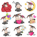 Set Of Cute Cartoon Donkey Royalty Free Stock Photos - 96561808