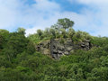 Gritstone Outcrop Surrounded By Forest Stock Image - 96573621