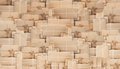 Pile Of Brown Parcel Post Boxes,  Abstract Background Royalty Free Stock Image - 96590966