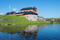 The Fortress Of The City Of Hameenlina On The Bank Of The Vanayavesi Lake In The Sunny June Afternoon. Finland Stock Images - 96591444