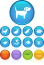 Pet Web Buttons - Round Royalty Free Stock Photo - 9667545