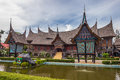 The Traditional House Of Indonesia, Replica Traditional House We Royalty Free Stock Images - 96615959