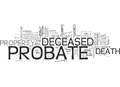 What You Should Know About Probate Word Cloud Stock Photos - 96625713