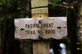 Sign Post For Trail 2000 Pacific Crest Trail Royalty Free Stock Images - 96630069