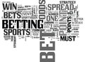 Bet On Sports Like A Pro Word Cloud Royalty Free Stock Images - 96638449