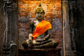 Old Buddha Statue In Ayutthaya Historical Park Royalty Free Stock Images - 96649309