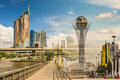 Kazakhstan . Astana . Nurzhol Boulevard . Collage . Royalty Free Stock Images - 96653049