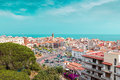 Hill View On Calella Town, Catalonia, Spain Royalty Free Stock Photo - 96659525