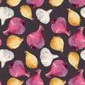 Watercolor Onion Pattern Royalty Free Stock Photography - 96661667
