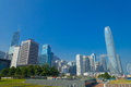 HONG KONG, CHINA - JANUARY 26, 2017: Modern Buildings In Finance District Background, Located In Hong Kong City Stock Photography - 96697802