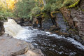 Canyon Falls On The Sturgeon River In The Upper Peninsula Of Mic Stock Image - 96698241