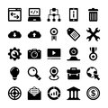 Seo And Digital Marketing Glyph Vector Icons 6 Stock Image - 96711721