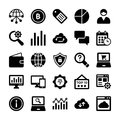 Seo And Digital Marketing Glyph Vector Icons 8 Stock Photos - 96711733