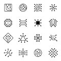 Electronic Computer Chip Circuit And Motherboard Equipment Vector Icons Royalty Free Stock Images - 96725249