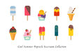 A Cool Summer Popsicle Icecream Sweet Colorful Dessert Collection Royalty Free Stock Photography - 96730677