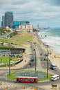 View To The Seaside In Downtown Colombo, Sri Lanka. Royalty Free Stock Images - 96740889